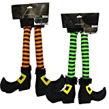 RDC Plush Hanging Witch Legs Halloween Car Truck Decoration - Set of Two