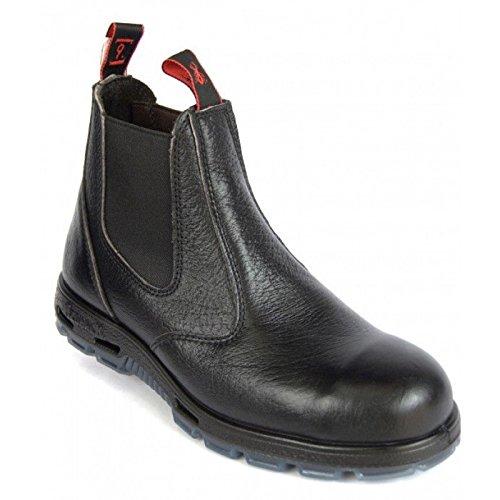 3a310a911b3 Redback Work Boots Easy Escape Steel Toe Black Rambler Leather Slip On  USBBL (UK 6 - US 7)