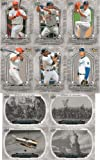 2008 Upper Deck a Piece of History MLB Baseball Complete Mint Hand Collated 200 Card. This Set Is Loaded with Baseball Stars Including Josh Hamilton, Albert Pujols, Alex Rodriguez, David Wright, Derek Jeter, Ken Griffey, Carlos Beltran, Mike Piazza, Ichiro Suzuki, Joba Chamberlain, Chipper Jones and Others. Historical Figures Including the Berlin Wall, Eiffel Tower, Boston Tea Party, Paul Revere, Wright Brothers, Hindenburg, Liberty Bell, Nobel Prize, Supreme Court, Jamestown, Sputnik, Space Shuttle and Many More! offers