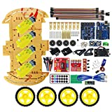 Multifunction Bluetooth Controlled Robot Intelligent Car Kits Tone Posted Free Codes 4WD UNO R3 Starter Kit for arduino DIY