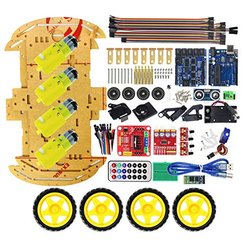 Price comparison product image Multifunction Bluetooth Controlled Robot Intelligent Car Kits Tone Posted Free Codes 4WD UNO R3 Starter Kit for arduino DIY