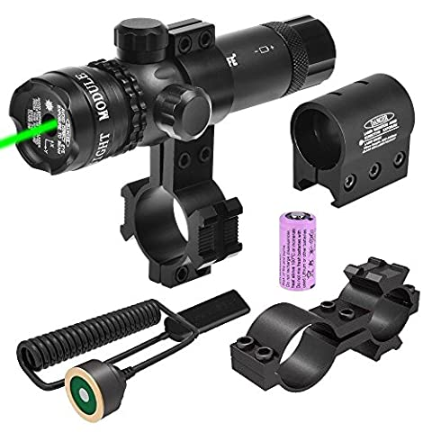 CVLIFE Green Gun Sight Laser 532nm Green Rifle Sight with 2 Mounts and 2 Pressure Switches (Green Dot Laser For Gun)