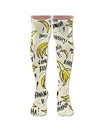 Funny Banana Over The Knee Thigh High Socks