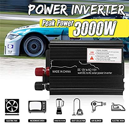 4000 Watt Peak Modified Sine Wave Power Inverter DC 12V to AC 220V Car Converter