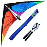 Hengda Kite-Delta stunt kite for Kids and Adults,70-Inch outdoor sports,Beach and Fun sport
