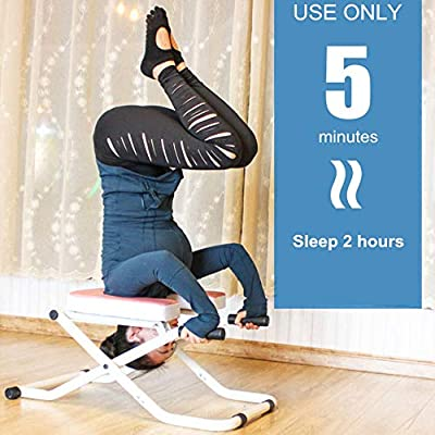Amazon.com: HMJY Yoga Chair Folding, Inversion Bench Therapy ...