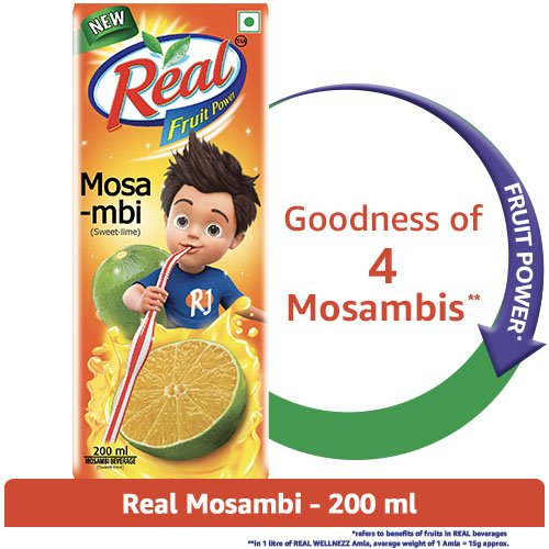 Real Fruit Power Mosambi, 200ml - Buy Online in Kuwait