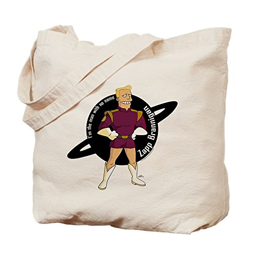 CafePress Zapp Brannigan No Name Natural Canvas Tote Bag, Cloth Shopping Bag -