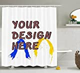 custom shower curtains High-End Private Custom Domineering Personality Waterproof Shower Curtain(60Wx72H, Custom Shower Curtains)