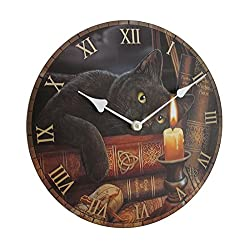 Zeckos Wood Wall Clocks The Witching Hour By Lisa Parker Decorative Wall Clock 11.75 X 11.75 X 1.5 Inches Multicolored