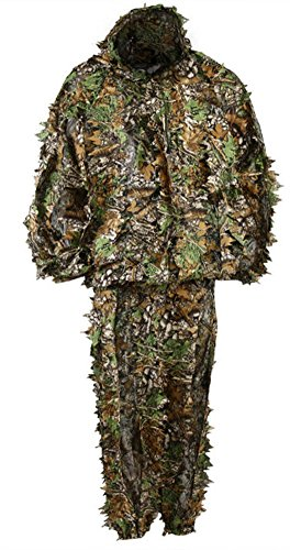 CC-JJ - Outdoor Woodland Sniper Ghillie Suit Kit Cloak Military