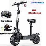 Gjfhome Monopattino Elettrico con Sedile Rimovibile, 3 modalità di velocità Scooter per Adulti Batteria 10Ah Autonomia…