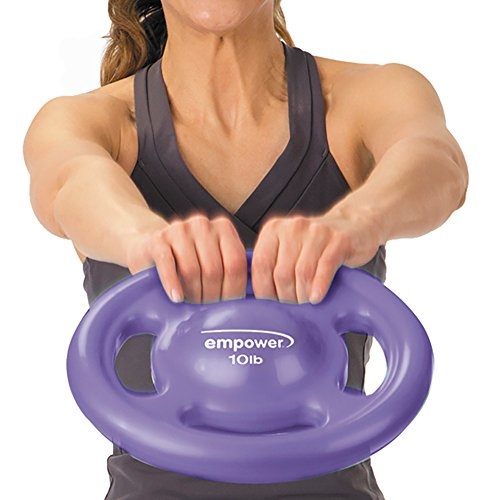 Empower 10 lb Grip Plate Fit Disc, Core Training, Conditioning and Cardio, 3-in-1 Weight, Dumbbell, Kettlebell, Medicine Ball