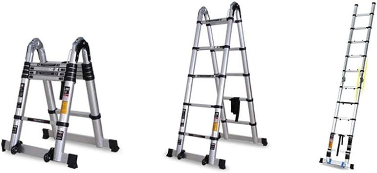 XC Multifuncional Escaleras telescópicas- Hogar Telescópica Escalera, Multi-función De Aleación De Aluminio De Ingeniería De La Escala, La Elevación Y El Contratante Escalera Escalera Plegable Extra A: Amazon.es: Bricolaje y herramientas