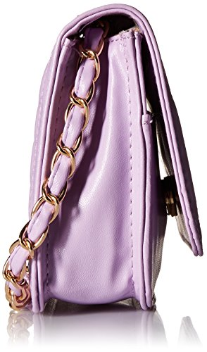 Color PU Solid BMC Diamond Handbag Quilted Womens Mini Pattern Leather Lavender Clutch EHqwn4gnS