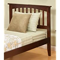 Atlantic Furniture Mission Twin Headboard in Antique Walnut - Twin