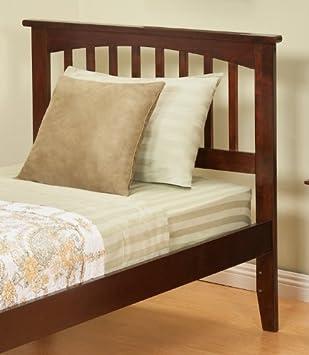 atlantic furniture mission twin headboard in antique walnut twin - Antique Twin Bed Frame