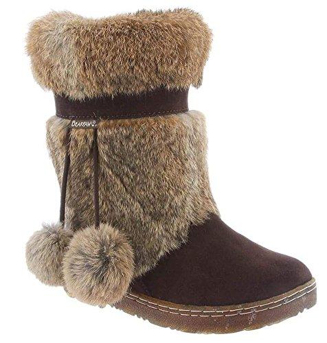 BEARPAW Boots Womens Tama Fur Pom Poms Suede 9