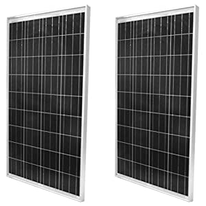 WindyNation-2pcs-100-Watt-Polycrystalline-Solar-Panel-Off-Grid-12-Volt-12V-Battery-Charging-for-RV-Boat