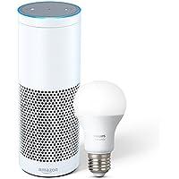 Amazon Echo Plus Smart Hub (White) + Philips Hue Bulb