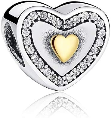 Color: FBS021 Calvas Hot 100/% 925 Sterling Silver Full of Love Heart Bead Fit Women Charm Bracelet Jewelry Birthday Day Lover Gift