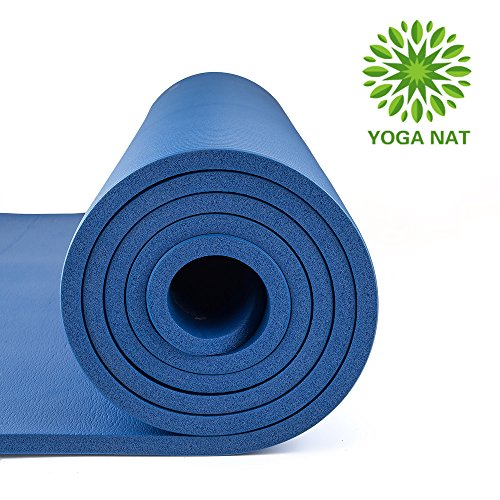 """Yoga Nat Yoga Mat, Mat 2/5"""" Thickness 72"""" Long 24"""" Wide NBR Multiple Use Exercise and Yoga Mat with Carrying Travel Bag and Strap by Yoga nat"""