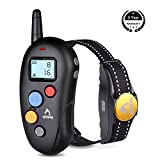 TOPPLE Dog Training Collar,Patpet 100% Waterproof &Rechargeable Dog Shock Collar 1000FT Remote with Blind Operation,Beep,Vibration and Shock Electric E-Collar for Small Medium Large Dog 10-88lbs
