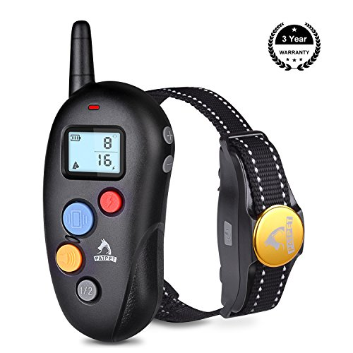 TOPPLE Rechargeable Dog Training Collar with Remote Waterproof Dog Shock Collar with Remote Bark Collar for Dogs Small Medium Large 10-88lbs