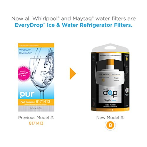 EveryDrop by Whirlpool Refrigerator Water Filter 8 (Pack of 3) by Whirlpool (Image #1)