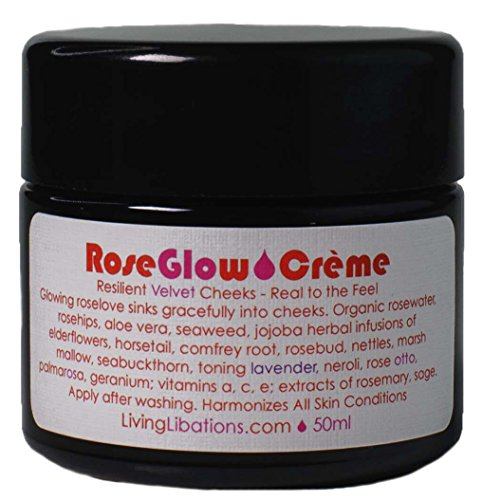 Living Libations – Organic Wildcrafted Rose Glow Face Creme 50 ml