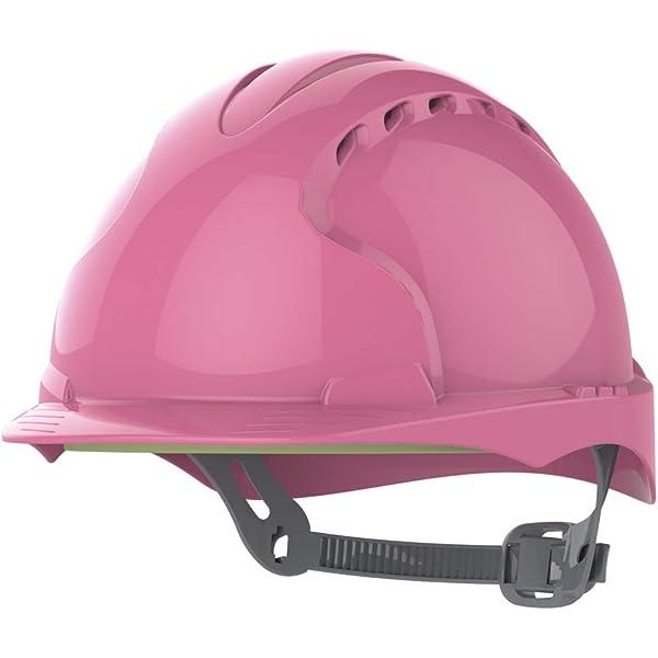 JSP AJF030-003-900 EVO2 Casco de seguridad con trinquete deslizante, ventilado, rosa: Amazon.es: Industria, empresas y ciencia