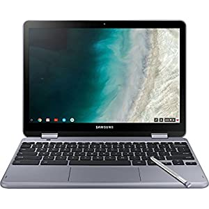 Samsung Plus 2-in-1 12.2″ Touch-Screen Chromebook – Intel Celeron – 4GB Memory – 32GB eMMC Flash Memory – Stealth Silver