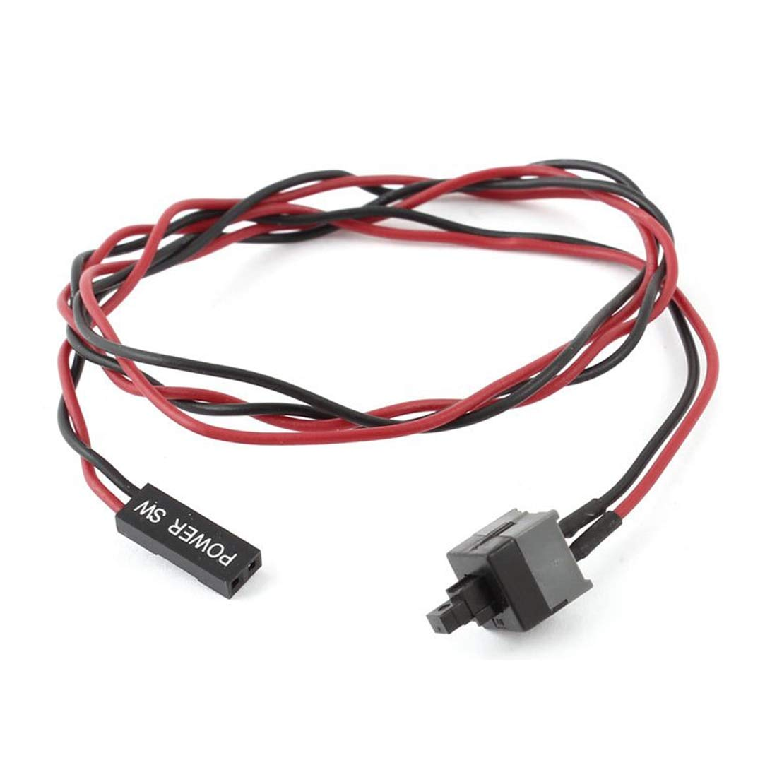 Utini 2 pcs ATX Computer Case Power Supply Reset Switch Cable Cord
