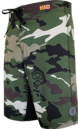 HIC Howitzer 8 Way Octo Super Stretch Boardshorts in Jungle - 56