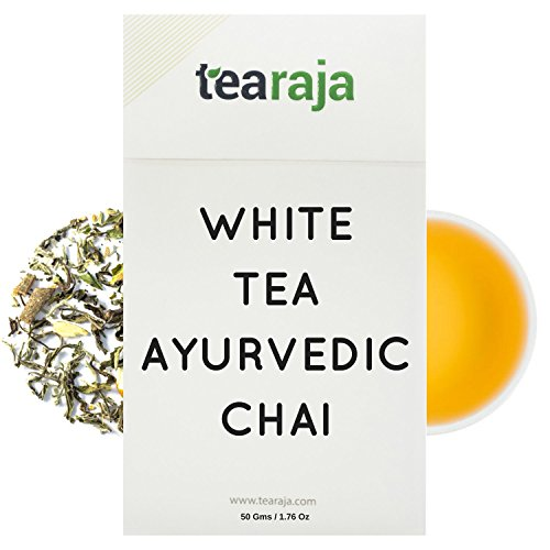 Chai White Tea - Tearaja White Tea Ayurvedic Chai(1.77 Oz Oz, 25 Cups)