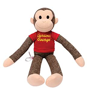 Schylling Curious George Sock Monkey Plush