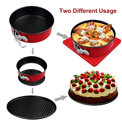 7-pcs Accessories for Instant Pot 5,6, 8 Qt, Steamer Basket, Egg Steamer Rack, Non-Stick Springform Pan, Steaming Stand, Silicone Spoonula,1 Pair Silicone Cooking Pot Mitts by Homtant by Homtant (Image #1)