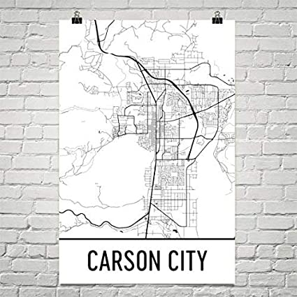 Amazon.com: Modern Map Art Carson City Map, Carson City Art, Carson ...