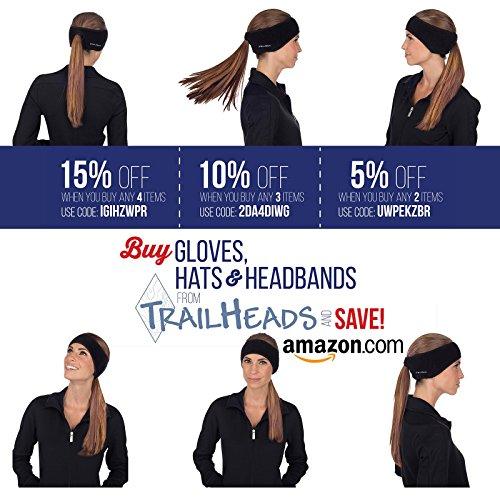 TrailHeads Women's Ponytail Headband – black / black