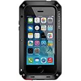 iPhone 5SE 5S Case, LIGHTDESIRE [Newest] Aluminum Alloy Protective Metal Extreme Water Resistant Shockproof Military Bumper Heavy Duty Cover Shell Case [Black] iPhone 5/5S/SE