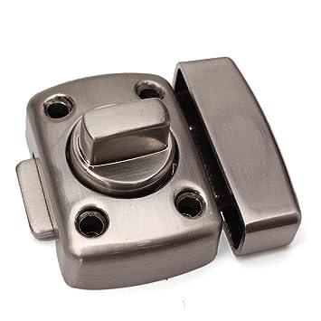 Edelstahl Silber Toilette Badezimmer Türschloss Drehen Schraube Latch +  Schrauben