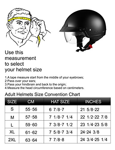 Glx Cruiser Scooter Motorcycle Half Helmet Dot Approved 2