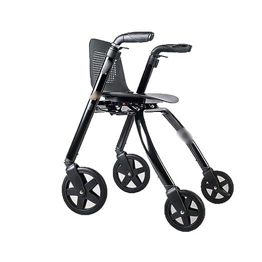 Walker Andador con Ruedas Andador Anciano Discapacitado Aleación ...