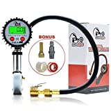 Pro Auto Gadgets Tire Pressure Gauge Inflator - 200 PSI Digital Tire Inflator/Deflator - For Car Truck Tractor Bike and Motorcycle - Air Pressure Gauge With  Accurate Reading