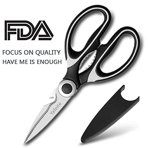 Blade Care Plus Jar - Heavy Duty Kitchen Shears,Multifunctional Kitchen Scissors-Ultra Sharp Stainless Steel Shears for Chicken, Poultry, Fish, Vegetables and BBQ