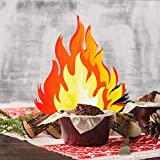 12 Inch Tall Artificial Fire Fake Flame Paper 3D