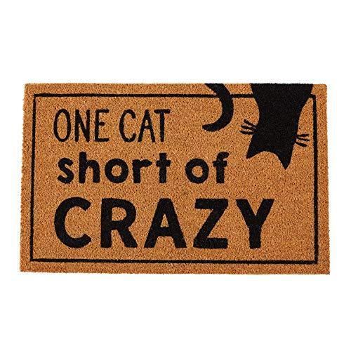 Mud Pie Crazy Cat Lady Door Mat Coir Doormat, (Door Mat Cat)