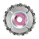 "AOLVO 4 Inch Grinder Disc Wood Carving Disc and Chain 22 Fine Tooth Shaping Disc Angle Grinder Sanding Disc Chainsaw Blade 4"" Circular Saw Blade"