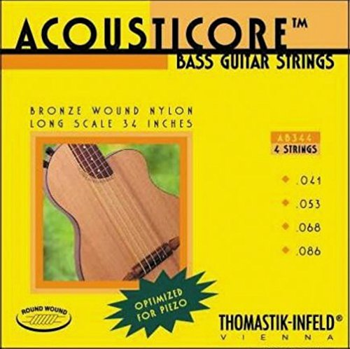 Thomastik-Infeld AB344 Bass Guitar Strings: Acousticore 34-Inch Scale 4 String Set G, D, A, (344 Scales)