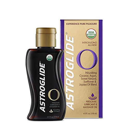 Astroglide O Organic, Essential Oil Based Personal Lubricant and Massage Oil, 4 oz.